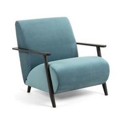 Tapicerowany fotel madras niebieski