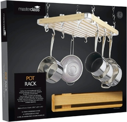 Wieszak na garnki i patelnie nad wyspę kuchenną kitchen craft mcpotrack