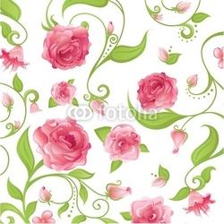 Plakat na papierze fotorealistycznym różowe róże