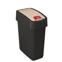 Kosz na śmieci z naciskaną pokrywą 10 l grafitowy