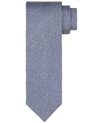 Granatowy jedwabny krawat profuomo