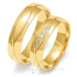 Obrączki ślubne złoty skorpion – wzór au-o113