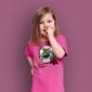 Cezarulka t-shirt dziecięcy różowy 146