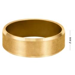 Obrączka stalowa kolor złoty z grawerunkiem na zewnątrz