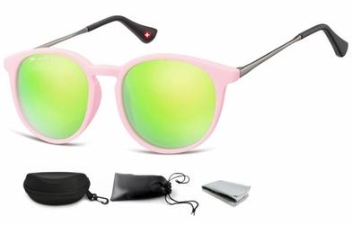 Okulary dziecięce lenonki unisex lustrzanki matowe cs71e