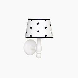 Kinkiet roomee decor - biały w granatowe gwiazdki