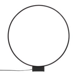 Hkliving lampa stołowa luminous circle czarna vol5052
