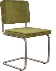 Zuiver :: krzesło tapicerowane ridge brushed zielone