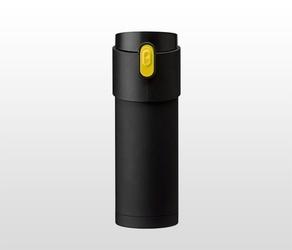 Kubek termiczny z zaparzaczem 350 ml pao czarnyżółty