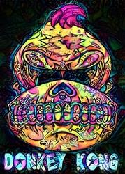 Psychoskulls, donkey kong nintendo - plakat wymiar do wyboru: 29,7x42 cm