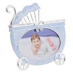 Ramka na zdjęcie błękitny wózek kokardka pamiątka dedykacja
