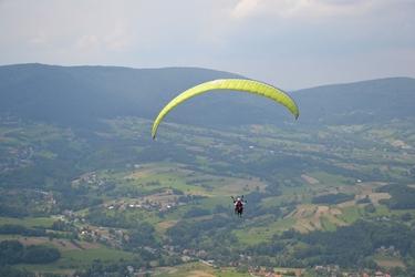 Lot paralotnią - tatry z akrobacjami