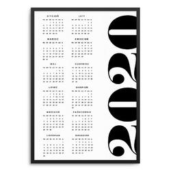 Stylowy - kalendarz w ramie , wymiary - 70cm x 100cm, kolor ramki - czarny