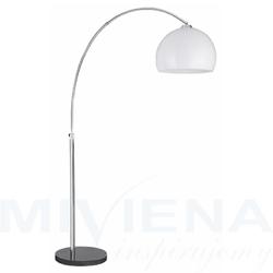 Arcs lampa podłogowa 1 chrom abażur tworzywo sztuczne