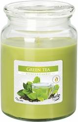 Bispol, snd99, Świeca zapachowa słoik z wieczkiem, Zielona herbata, 1 sztuka