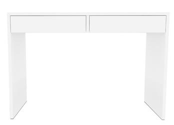 Toaletka z szufladami 115 cm biała nowoczesna