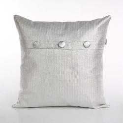 Poszewka na poduszkę dekoracyjna altom design, kolekcja nowy jork, dekoracja srebro 40 x 40 cm
