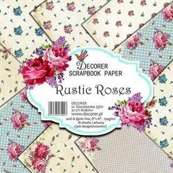 Papier do scrap. 20,3x20,3 Rustic Roses 18 szt.
