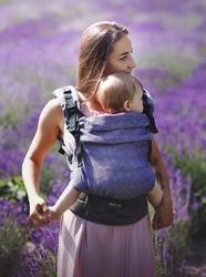 Nosidełko multi grow: diamond lavender, 100 bawełna, żakard