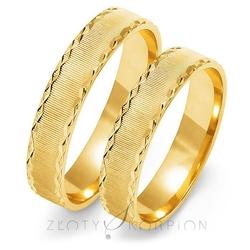 Obrączki ślubne złoty skorpion – wzór au-o107