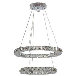 Lampa wisząca dwa okręgi kryształowe led lords candellux 31-32515
