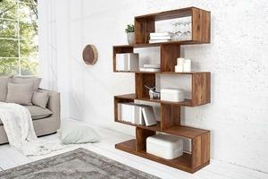 Regał drewniany rudi 150 cm nowoczesny sheesham