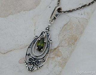 Cordoba - srebrny wisiorek z oliwnem