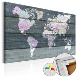 Obraz na korku - wędrówka przez świat mapa korkowa