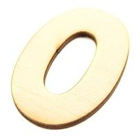 Drewniana cyfra 6 cm - 0 - 0