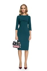Sukienka ołówkowa z bolerkiem zielona s075
