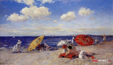 nad morzem -  william chase ; obraz - reprodukcja