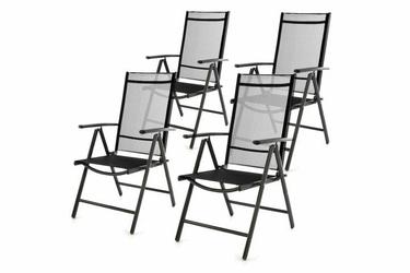 Komplet rozkładanych  krzeseł ogrodowych  4 szt.