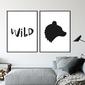Zestaw dwóch plakatów - wild , wymiary - 60cm x 90cm 2 sztuki, kolor ramki - biały