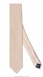 Beżowy krawat jedwabny, wąski 6,5cm