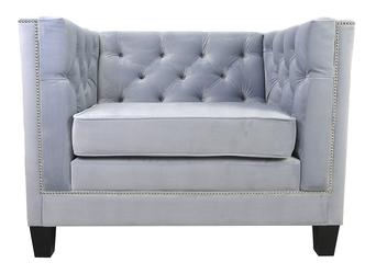 Nowoczesny fotel wenecja pikowany w stylu chesterfield