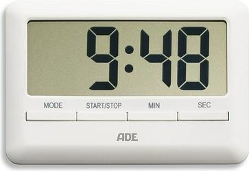 Minutnik cyfrowy ADE prostokątny biały