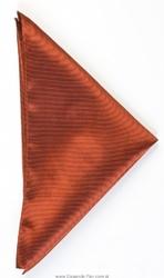 Poszetka jedwabna 33x33cm, miedziana
