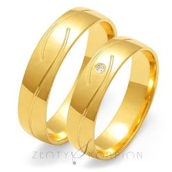 Obrączki ślubne złoty skorpion – wzór au-o128