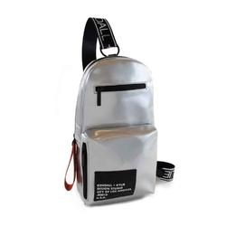 Plecak damski kendall+kylie kiki sling backpack - srebrny