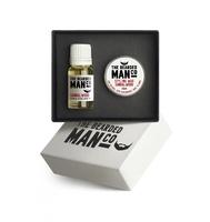 Bearded man co - zestaw: olejek do brody i wosk do wąsów drzewo sandałowe - sandalwood