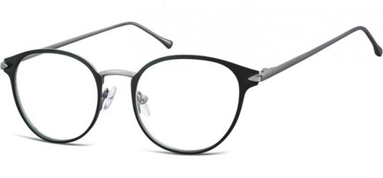 Oprawki okularowe kocie oczy damskie stalowe sunoptic 940 czarno-grafitowe