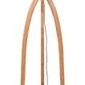 Goodmojo :: lampa podłogowa annapurna bambus 3-nożna 128cmabażur 60x30cm, lniany zieleń lasu