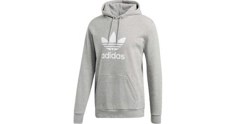 Adidas trefoil hoodie medium grey heather m szary