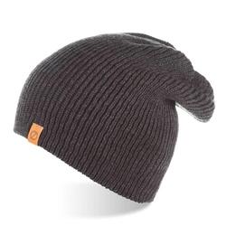 Jesienna czapka męska smerfetka brodrene cz7 ciemnoszara - c. szary