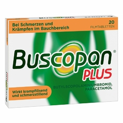 Buscopan plus w tabletkach powlekanych