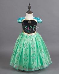 Księżniczka anna z krainy lodu sukienka dla dziewczynki na bal