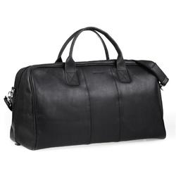 Czarna podróżna torba weekendowa ze skóry brodrene bl10