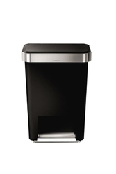 Kosz na śmieci pedałowy Liner Pocket z tworzywa czarny