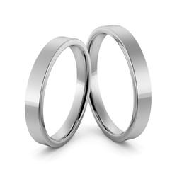 Obrączki ślubne platynowe klasyczne płaskie 3 mm - pt-12