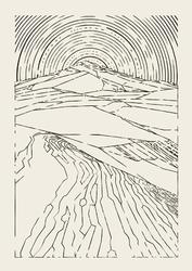 Wydma - plakat Wymiar do wyboru: 70x100 cm
